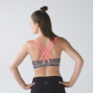 Lululemon Energy Bra in Ace Spot Grain Black